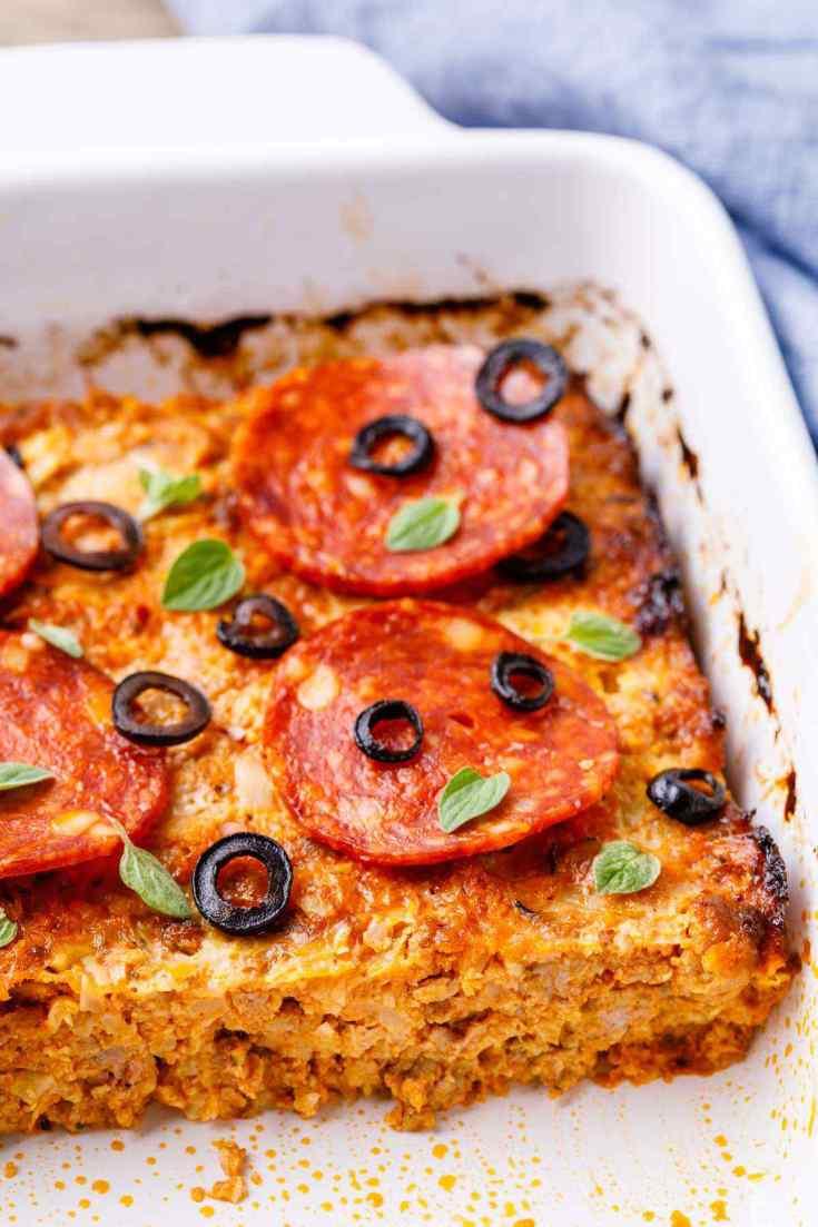 Loaded Supreme Pizza Paleo Casserole