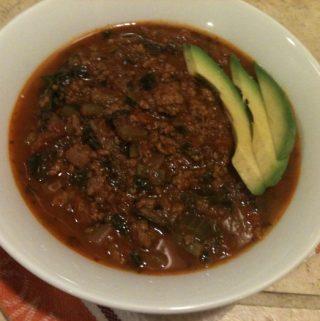 Grass-fed chili