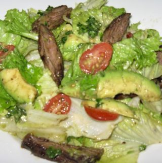 Skirt Steak Salad with Parsley Vinaigrette