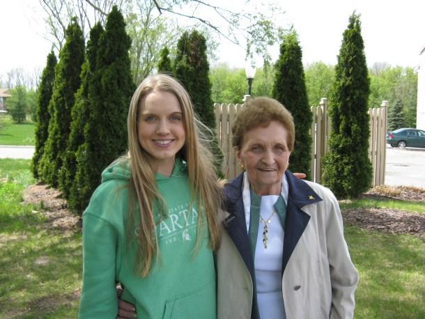 Grandma and me a few years back.