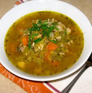 "Chicken Turkey ""Noodle"" Soup"