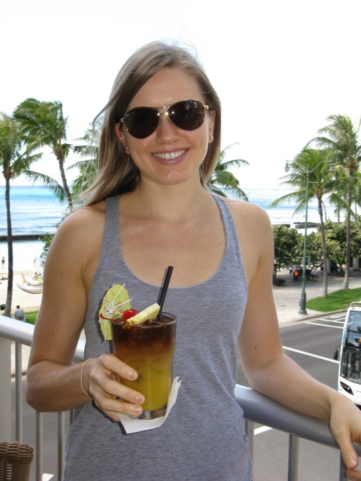 This was our first full day. Kicking it off with a Mai tai cocktail at our favorite place, Tiki's Bar & Grill.