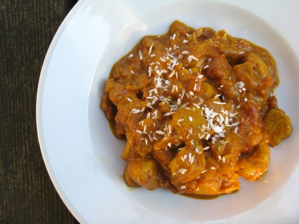 Chicken chana masala.