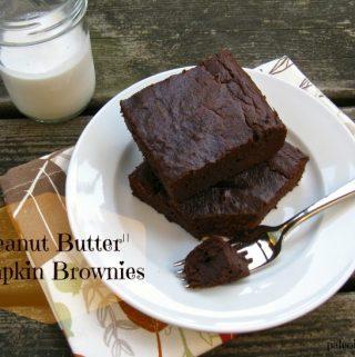 """""""Peanut Butter"""" Pumpkin Brownies"""