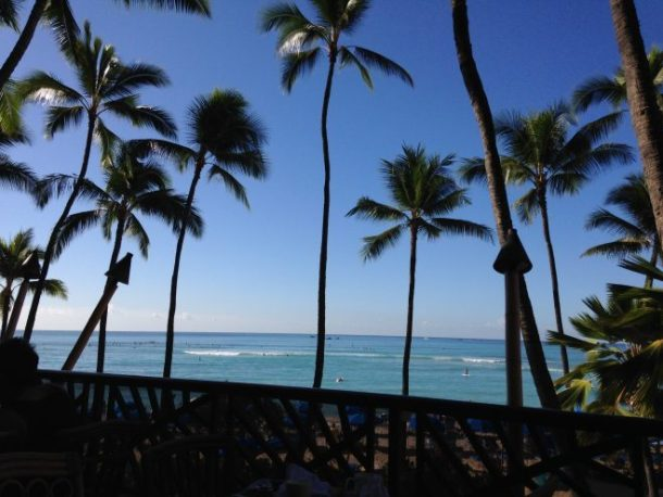 Our view from breakfast one morning. Not bad, huh? I could get used to this on a regular basis.