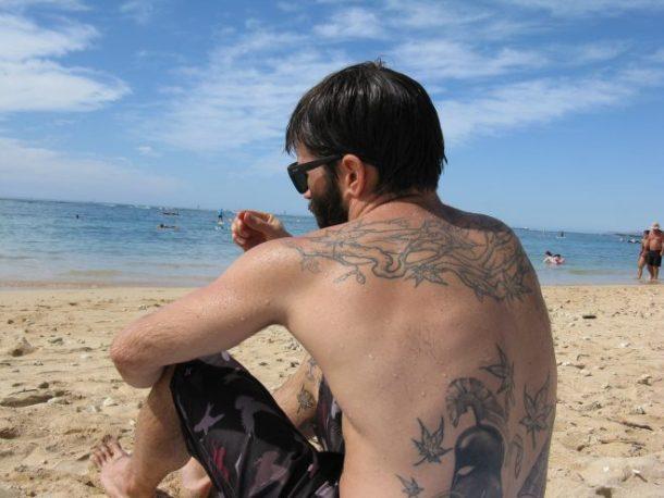 Jesse on the beach.