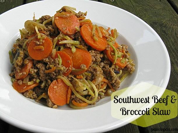 Southwest Beef and Broccoli Slaw