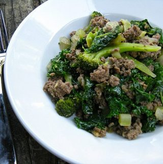 Ginger Beef and Greens Bowl