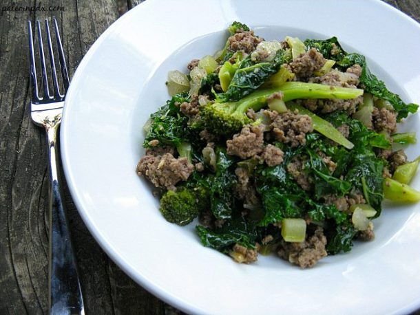 Ginger Beef and Greens