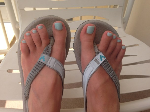 Fresh Hawaiian pedicure in Honolulu.