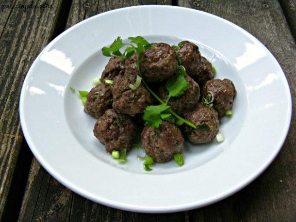Zesty ginger meatballs