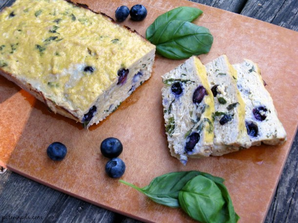 blueberry basil chicken loaf