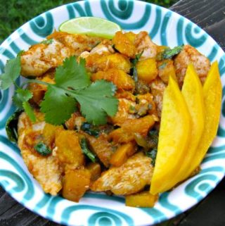 Ginger Lime Chicken with Mango