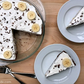 Banana Cream Pie with Cocoa Crust