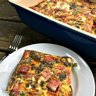 Ham, Carrot & Asparagus Egg Bake