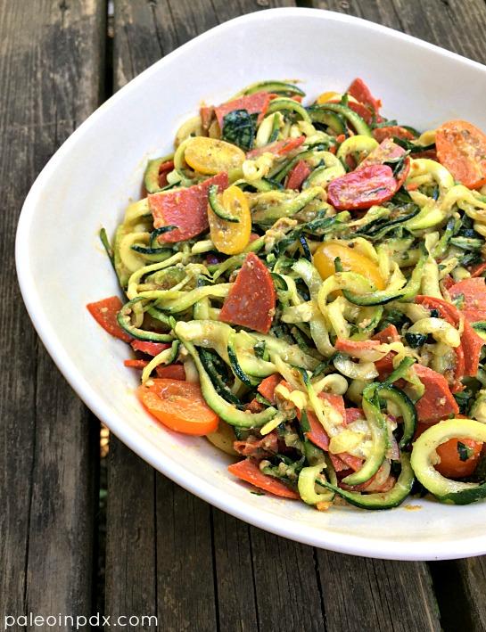 pepperoni noodle salad 2