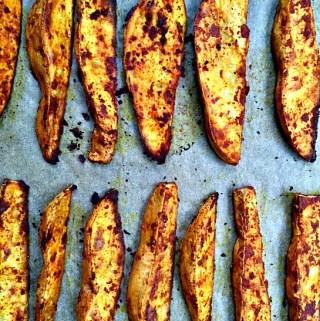 Smoky Roasted Sweet Potato Wedges