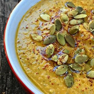 Bean-Free Spiced Pumpkin Hummus