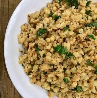 Cumin Cauliflower Rice