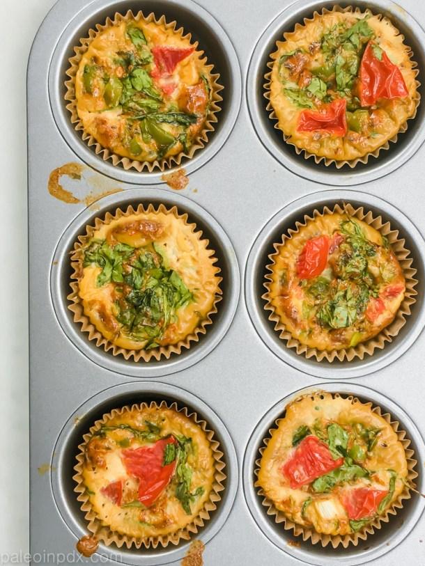 Breakfast taco egg muffins