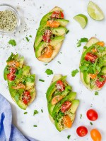 Loaded avocado sweet potato toast
