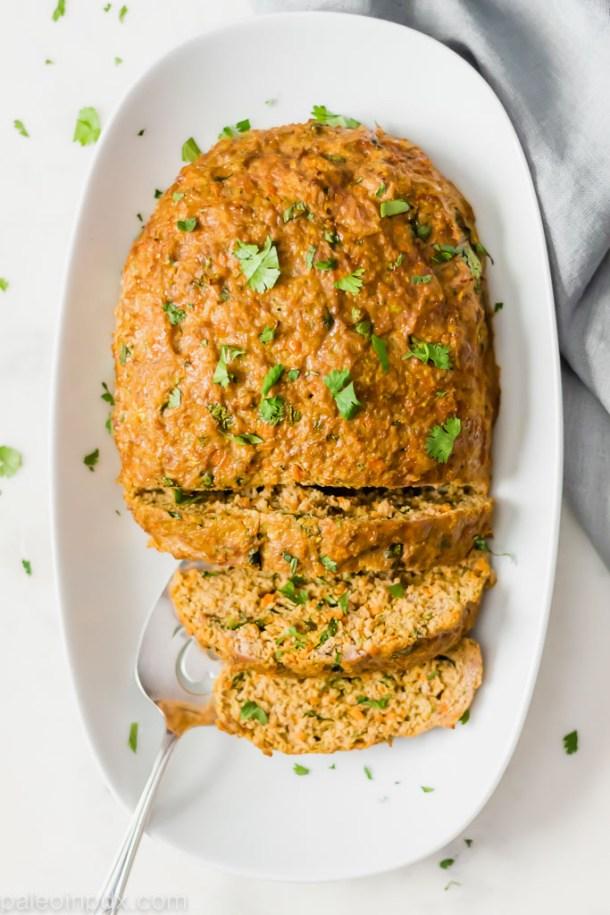 Cilantro Ginger Turkey Meatloaf