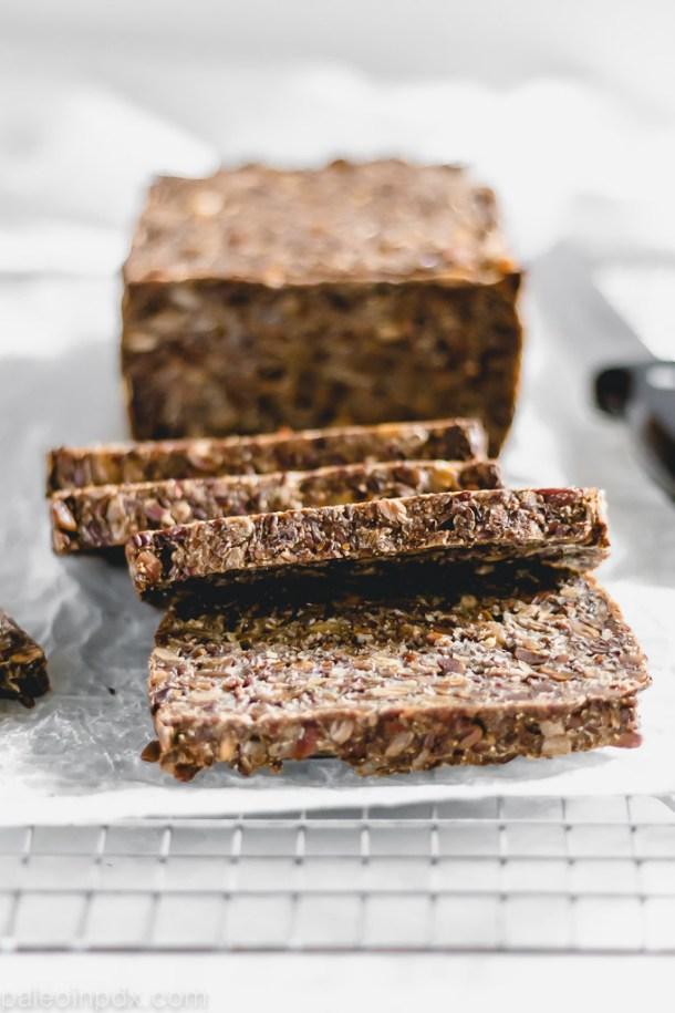 The easiest grain-free seeded bread