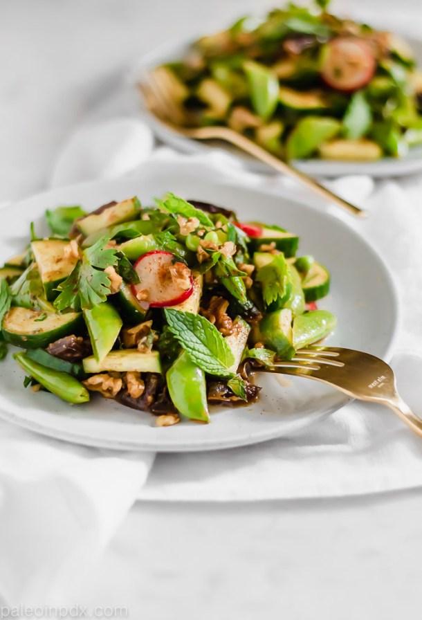 Cucumber snap pea salad