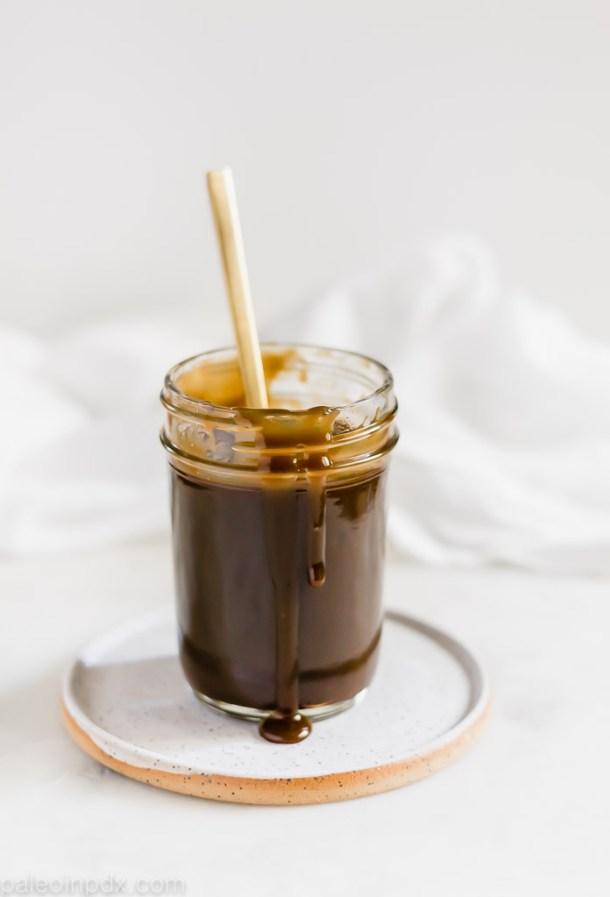 Dairy-free coconut milk caramel