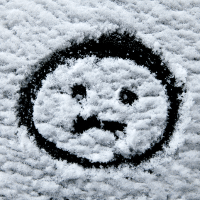 snow sad face