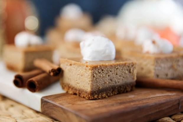 PaleOMG Pumpkin Cheesecake Bars