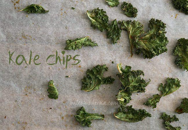 Cómo hacer chips de Kale o berza {recetas crujientitas}