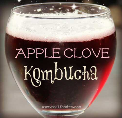 Real Food RN – APPLE CLOVE KOMBUCHA
