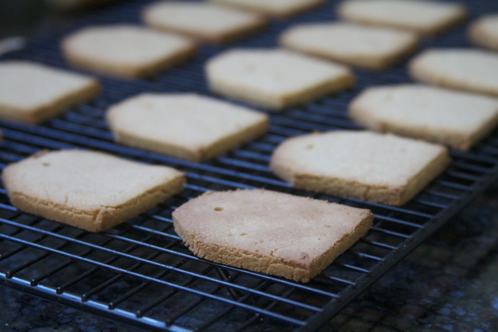 paleo shortbread cookies on rack
