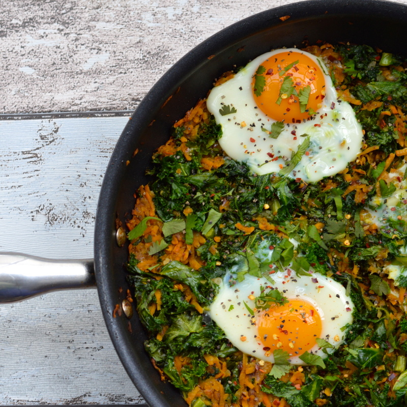 Sweet Potato and Kale Rosti with Baked Eggs | Paleo.With.Mrs.P