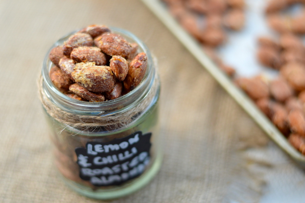 roasted lemon and chilli almonds