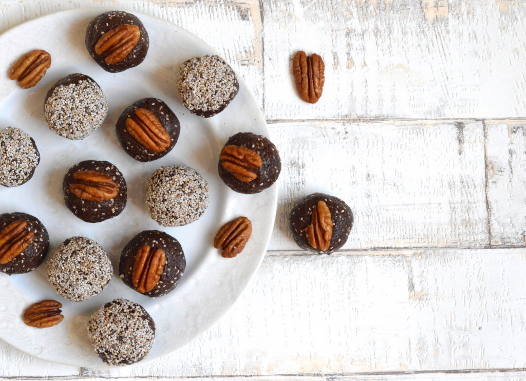 chocolate orange no bake energy balls