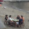 Collioure, France, dinner on the beach
