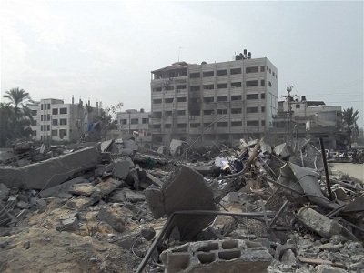 Israeli bombing of Gaza in November 2012 caused widespread damage. (Photo: Ahmed Dalloul/IRIN)