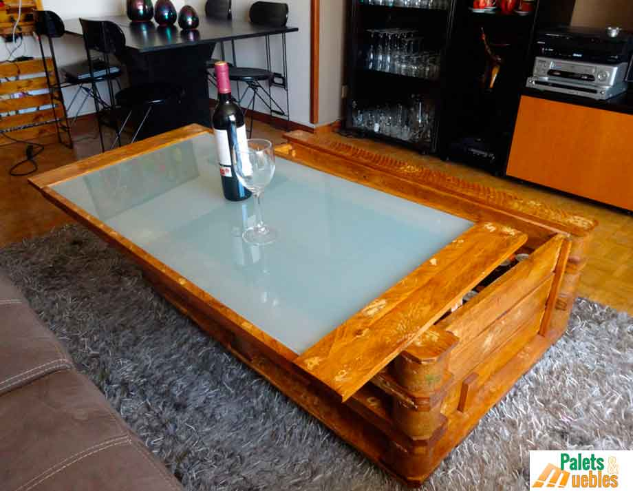 Mesa de centro arc n palets y muebles for Centro reto oviedo muebles