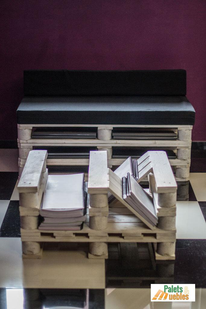 Mesa revistero hecha con palets de madera - PALETS Y MUEBLES