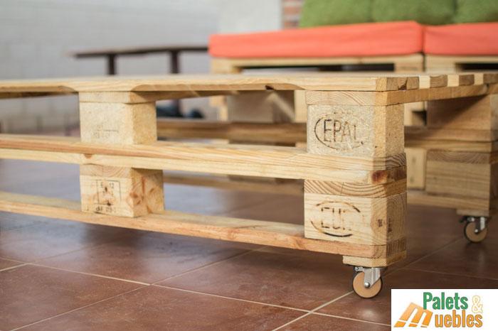 sillon sofa modular con palets de madera