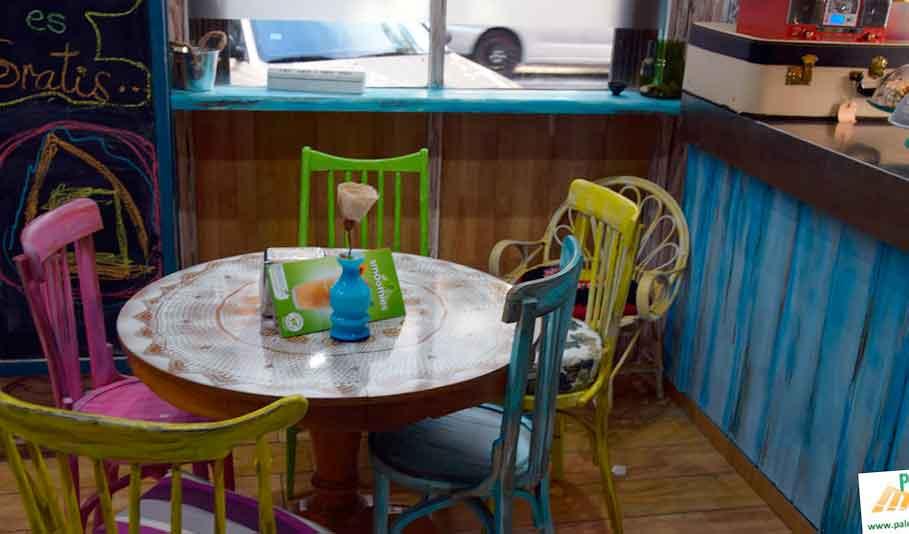 Decoraci n vintage para cafeter a palets y muebles for Muebles para cafeteria