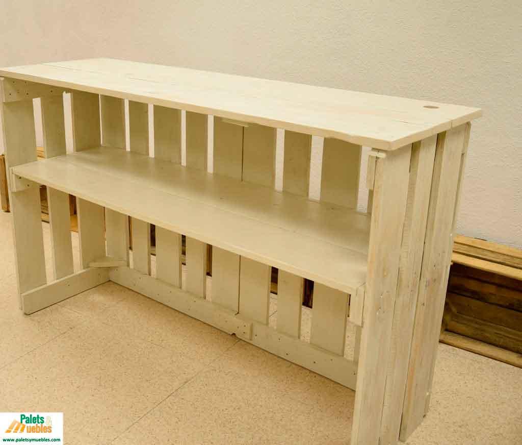 Mostrador y mesa para local comercial palets y muebles - Mostrador de palets ...