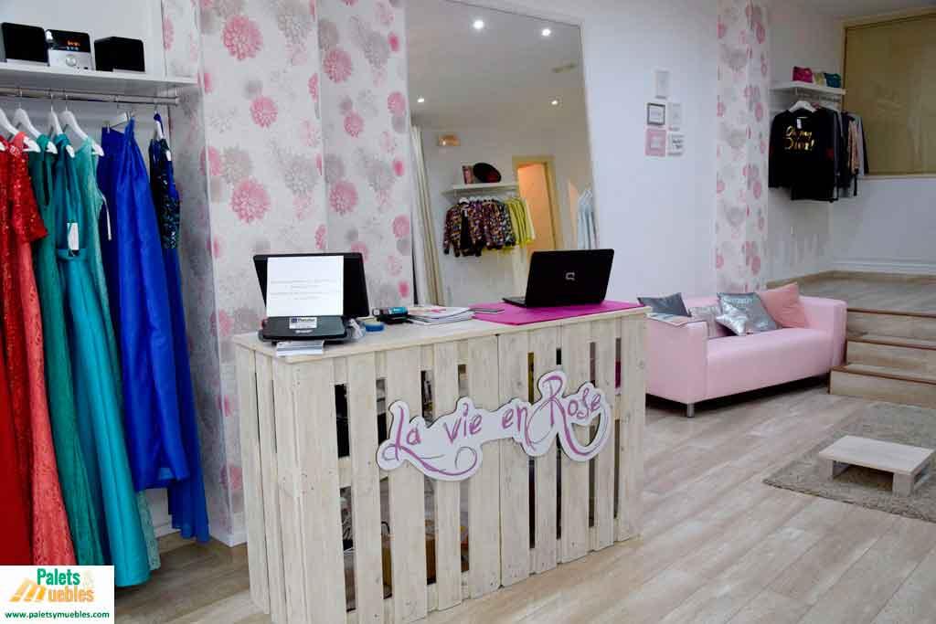 Mostrador y mesa para local comercial - PALETS Y MUEBLES