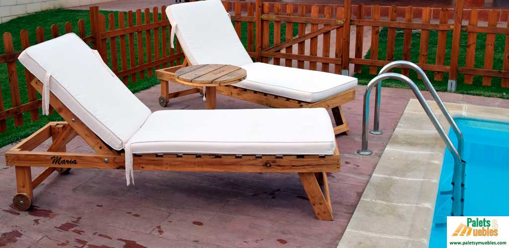 Muebles de palets para piscina y jard n palets y muebles - Muebles de jardin de palets ...
