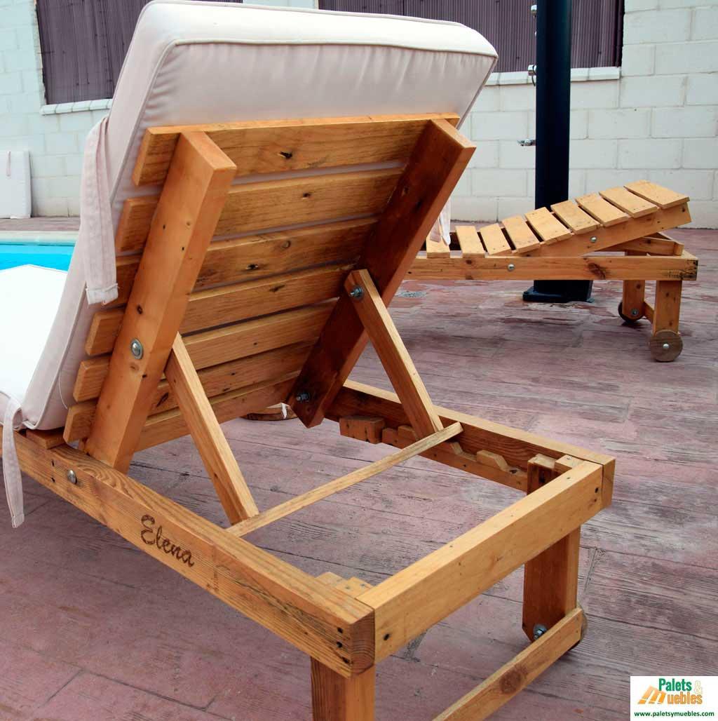 Tumbona jard n palets y muebles for Fabricacion de muebles con palet de madera