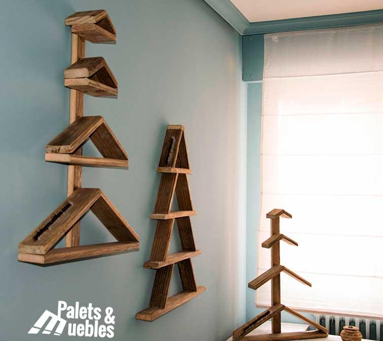 Rboles de navidad con palets palets y muebles - Arboles de navidad de madera ...