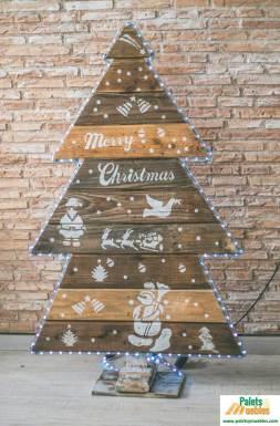arbol de navidad sellado con autentico barniz mate