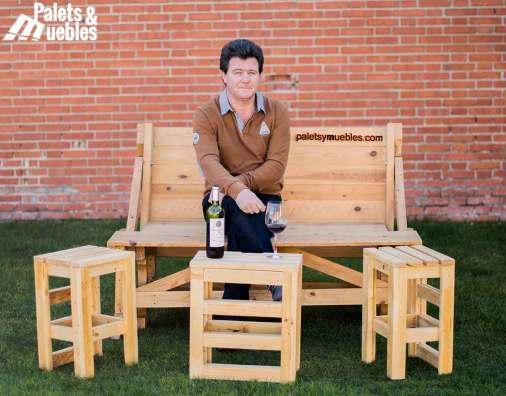 mesa-banco de palets reciclados